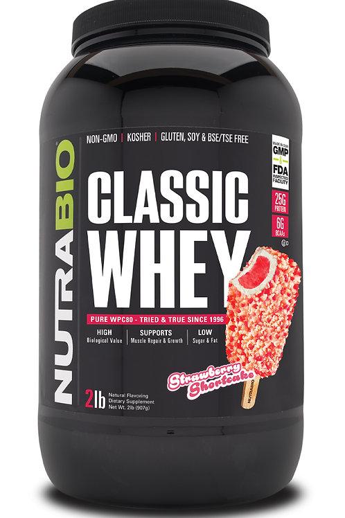 Classic Whey Protein (WPC80) 2 lb - Strawberry Shortcake
