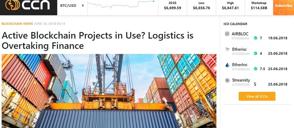 CCN shows BlockchainDriven Success in Logistics and Supply Chain Industry