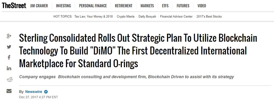 BlockchainDriven to Partner with Sterling Consolidated to Integrate Blockchain