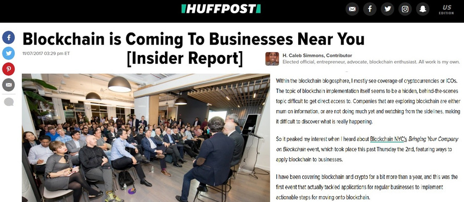 BlockchainDriven in the News: HuffPost feature of Business on Blockchain