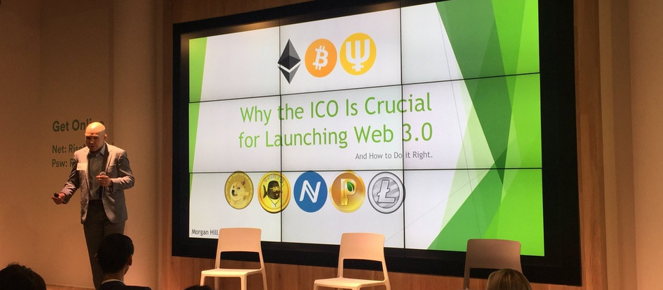 Morgan Hill Speaks at ICO Conference In New York City