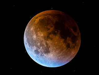 RareSuper Blue Blood Moon Lunar Eclipse in Leo