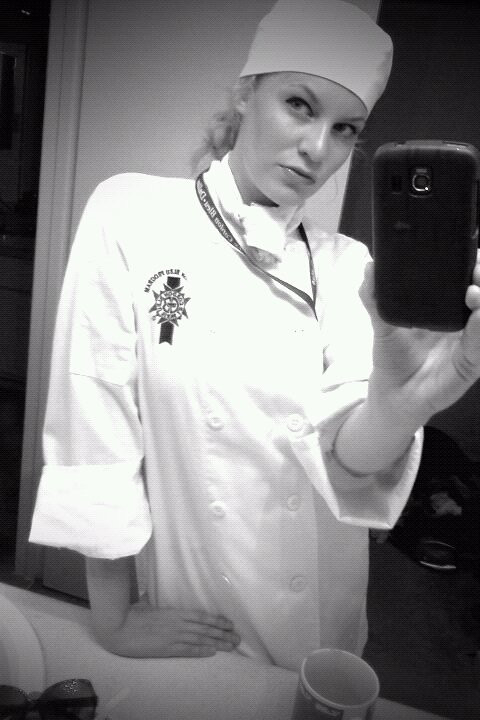 Me in my culinary clothes