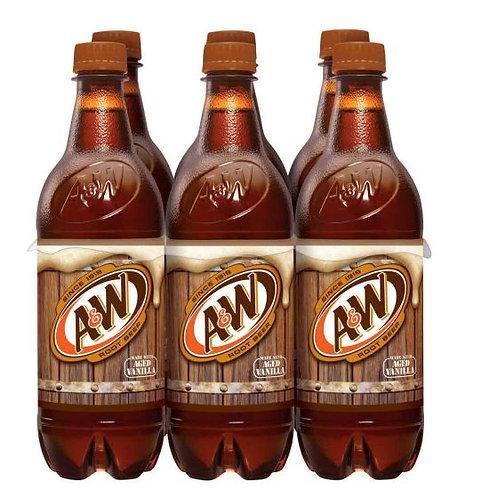 A&W root bear bottle