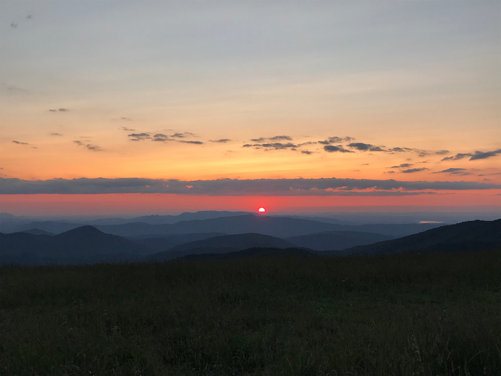 Sunset over the mountains in the 'greatest state in the land of the free' (Tennessee)