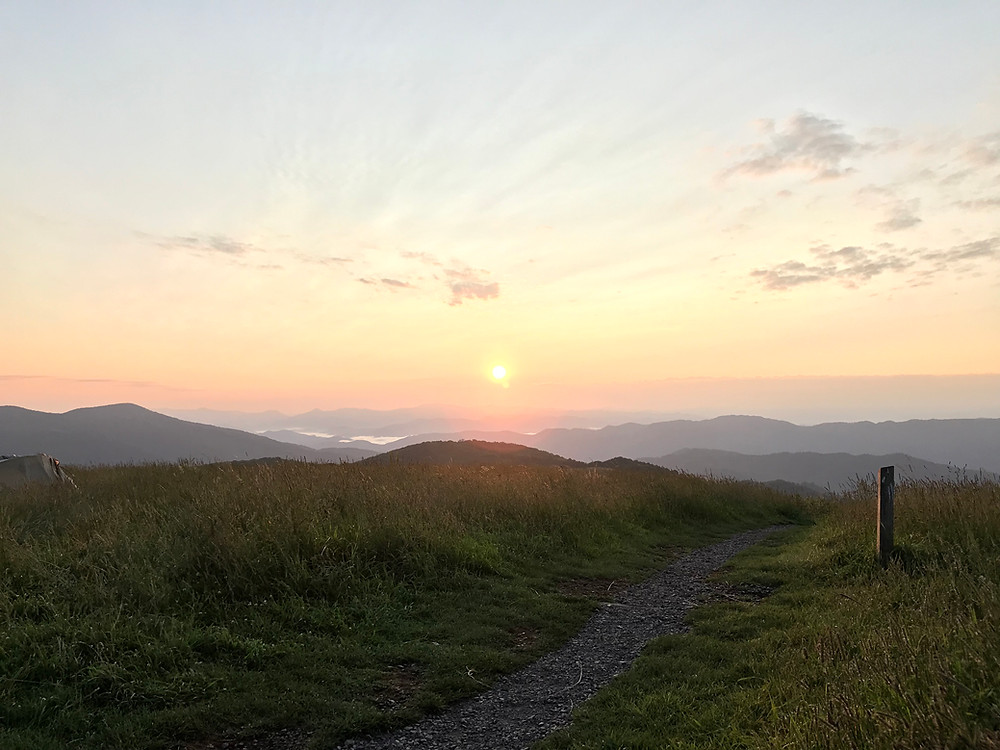Sunrise over the Appalachian Trail