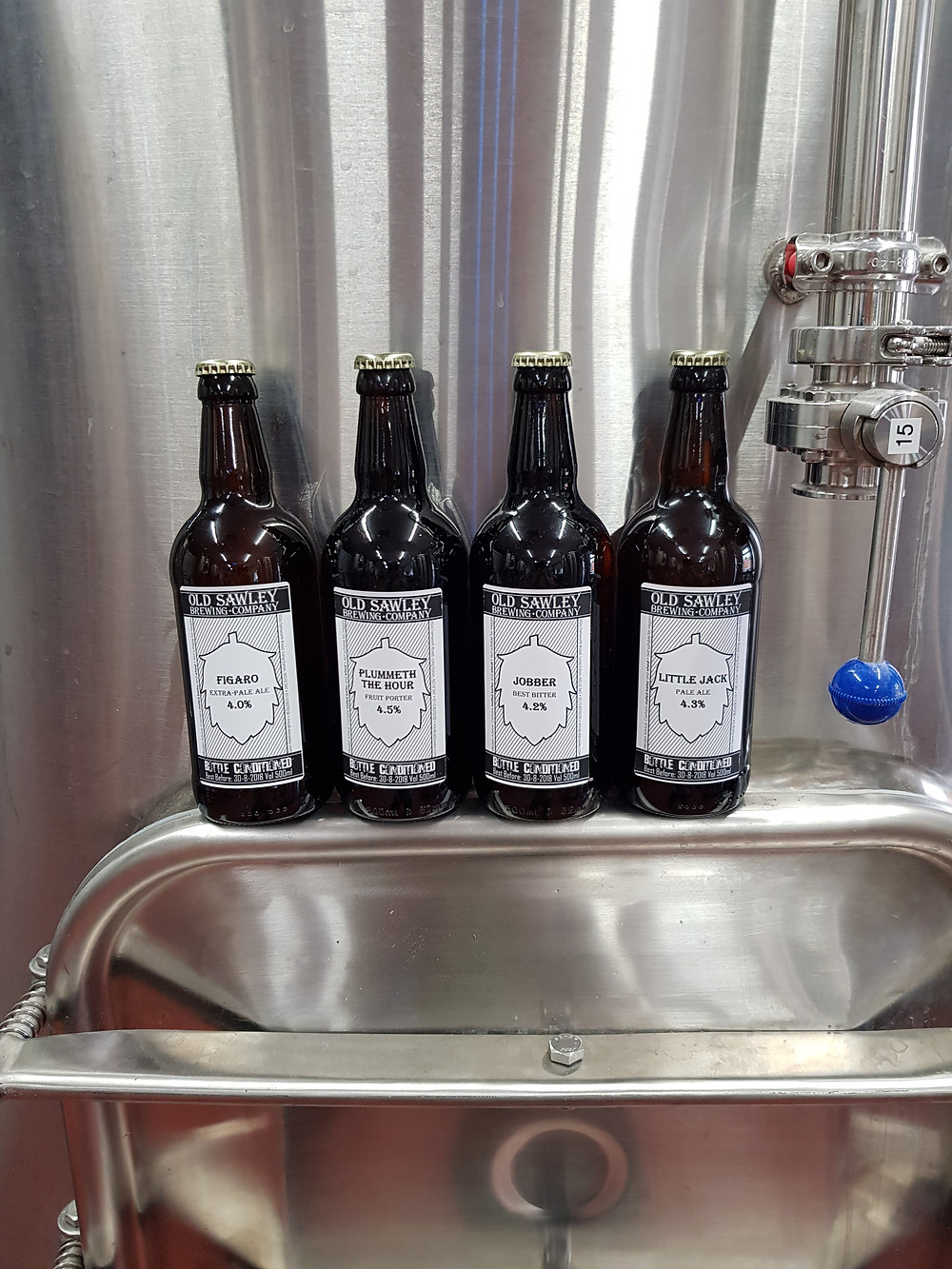 bottled beer, old sawley brewing co, old sawley