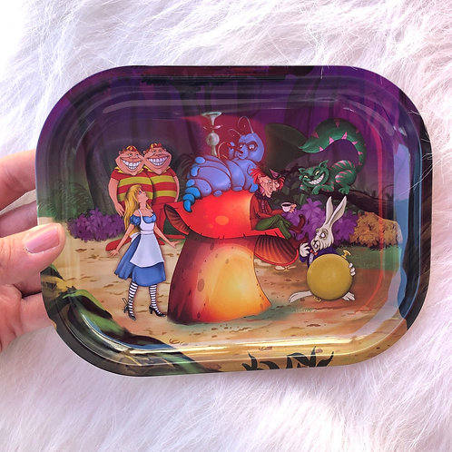 Wonderland Metal Tray (small)