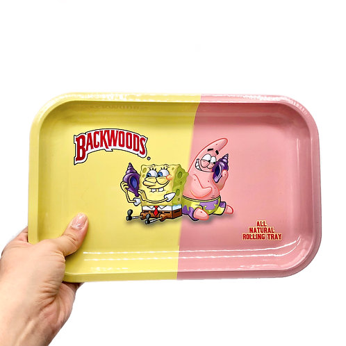 Adorable Cartoon Yellow and Pink Tray