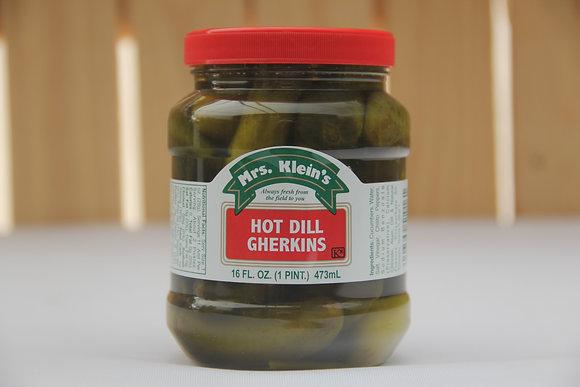Mrs. Klein's Hot Dill Gherkins