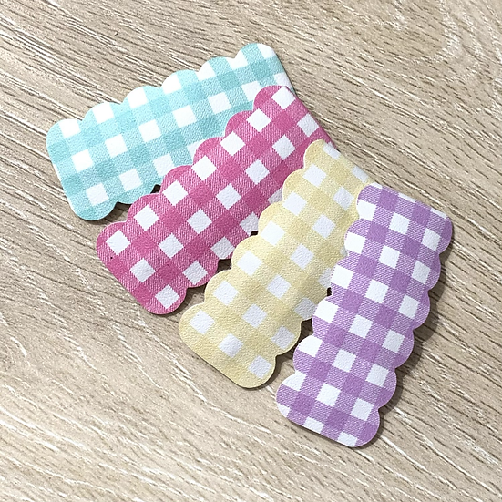 Pastel Ginghams Snap Clips SET