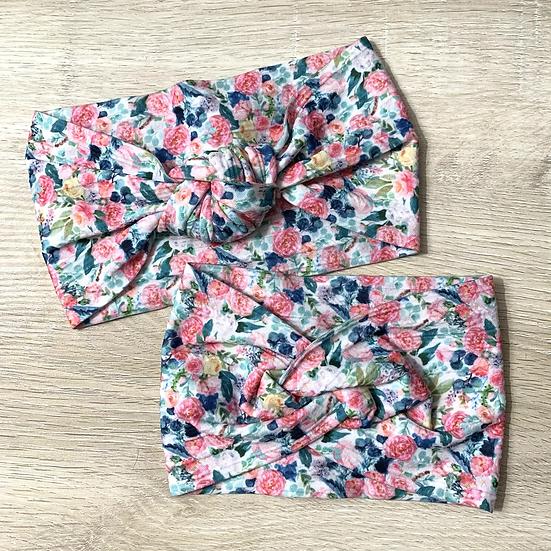Blushing Spring Braided Knit Nylon Headwrap
