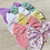 Thumbnail: Velvet and Floral hand tied  Sailor bow