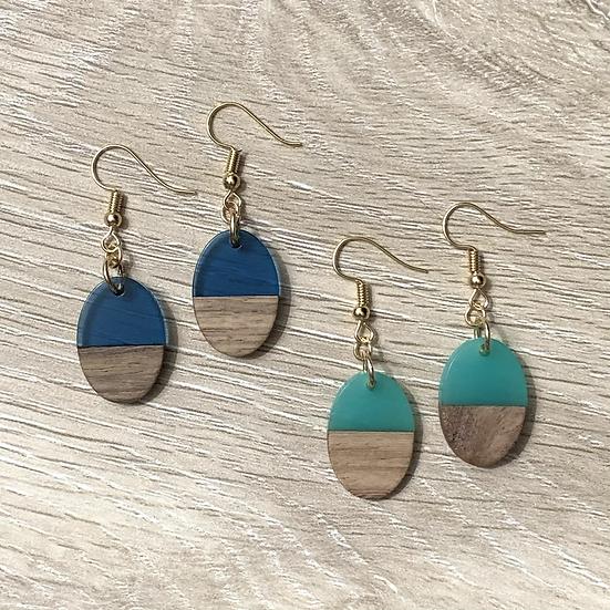 Simple Wooden Earrings