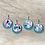 Thumbnail: Blushing Spring Earrings on Teal Glitter