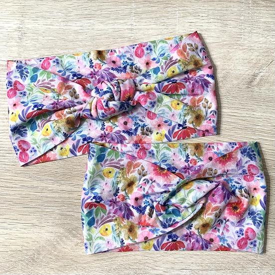 Spring Blooms Nylon Headwrap