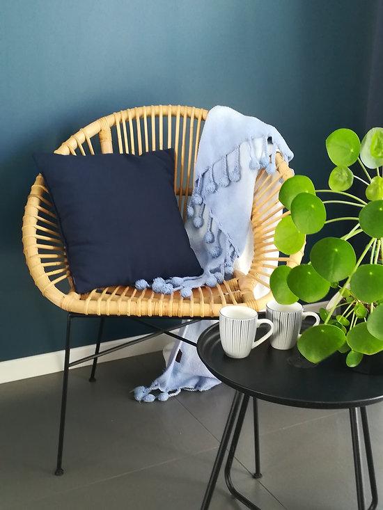 Chaise en osier artificiel
