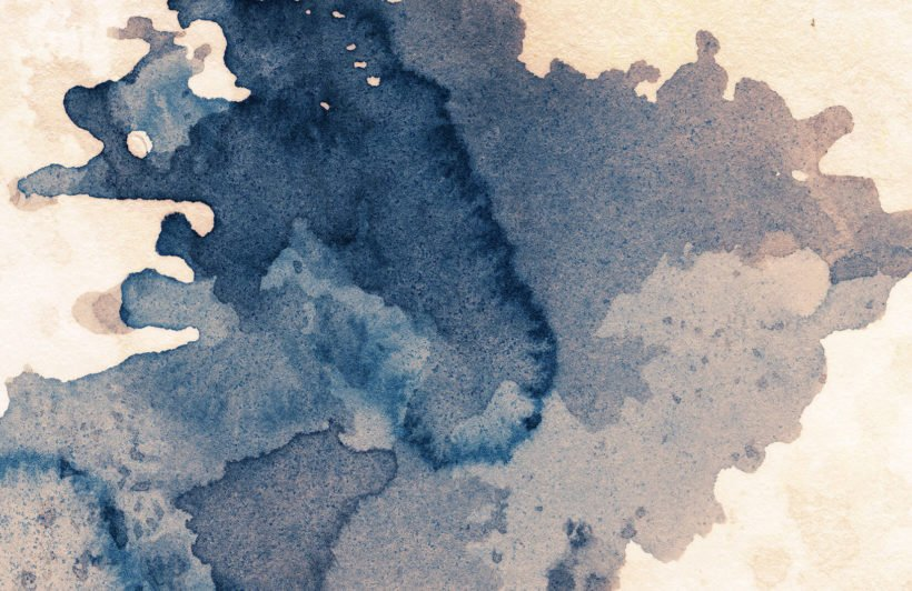 Papier peint aquarelle bleu