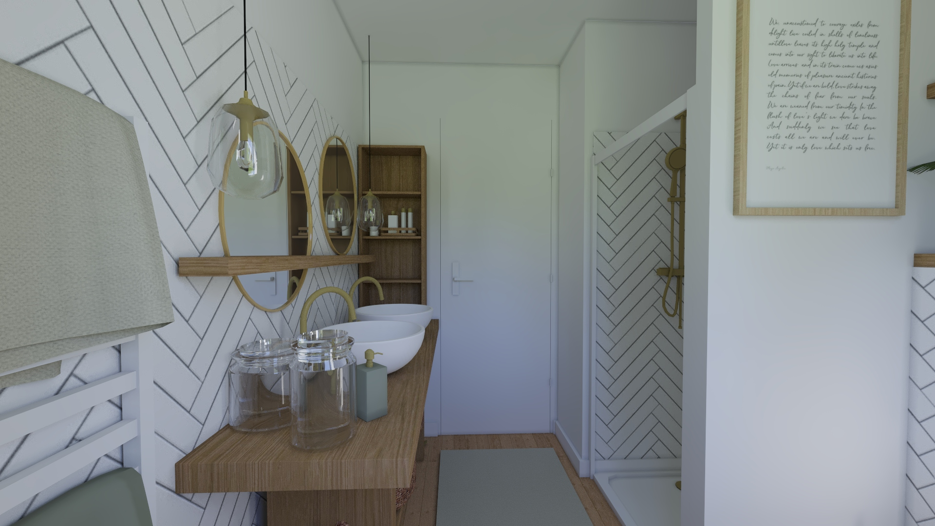 Salle de  bain en laiton