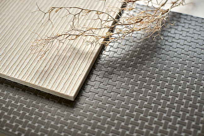 Textured stone and textured porcelain