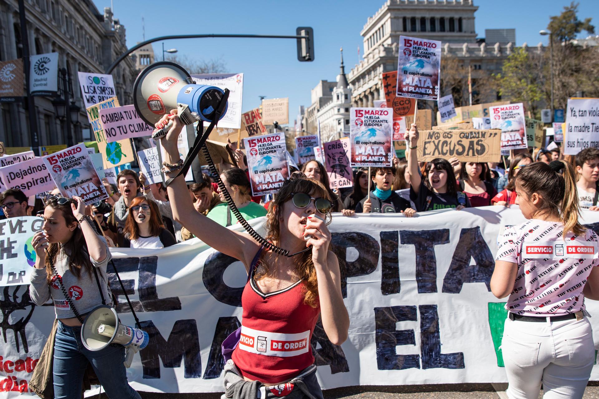Manifestación pidiendo acciones contra el cambio climático