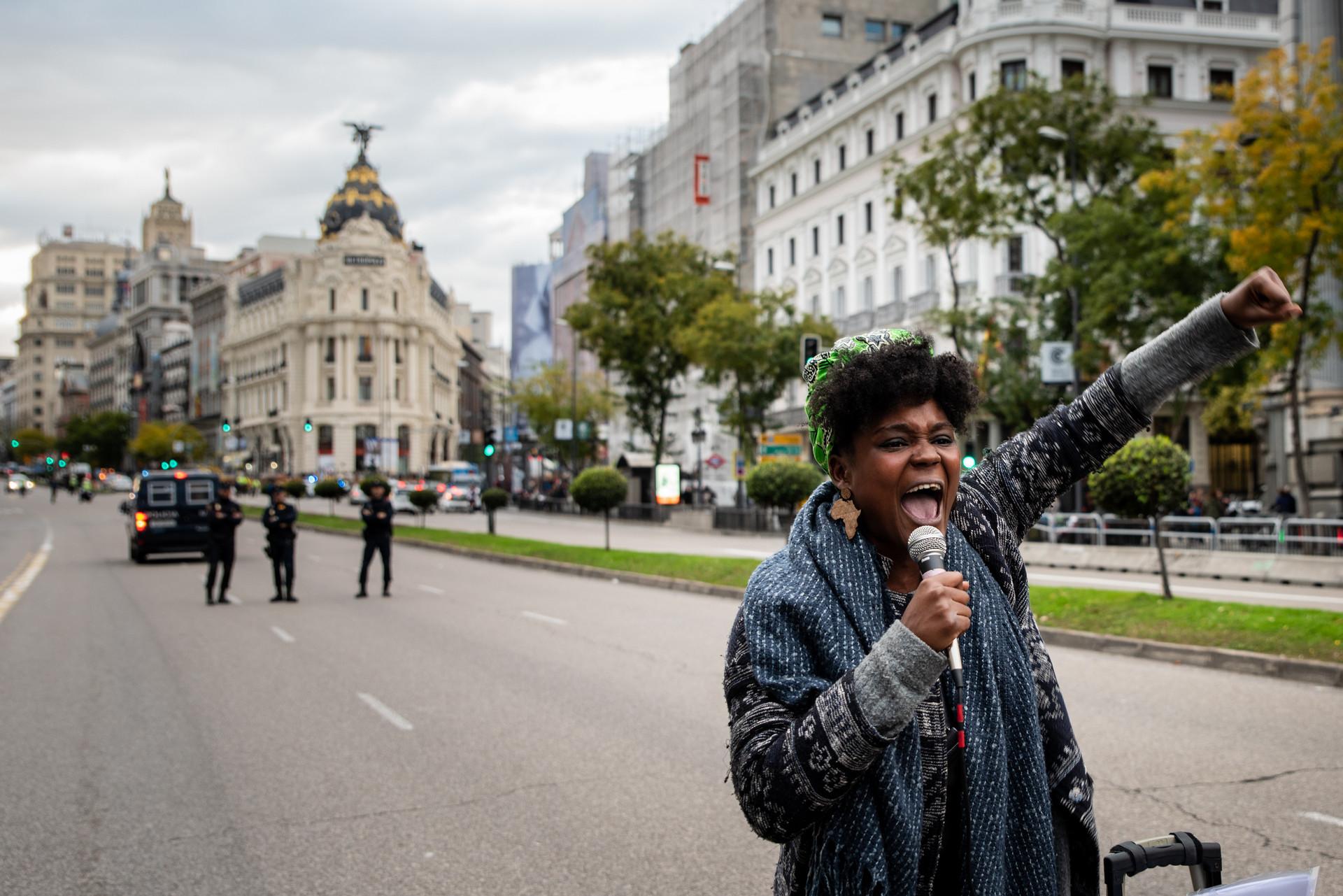 Manifestación contra el racismo institucional