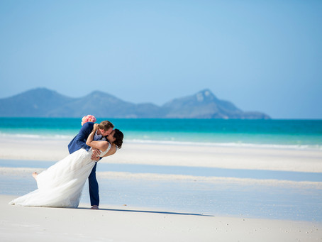 Justine and Adam's Intimate Elopement at Whitehaven Beach.