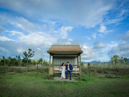 Hannah and Mason's Wedding at Home x