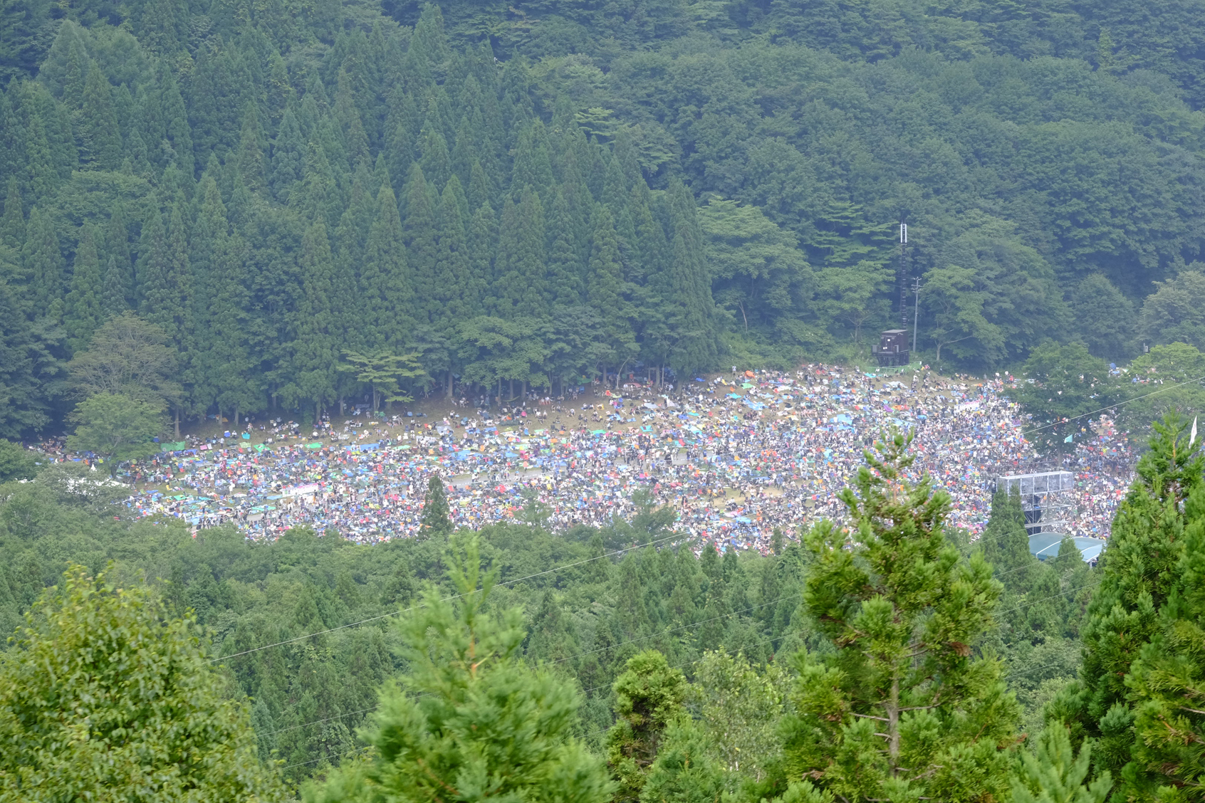 Fuji Rock from a Gondola