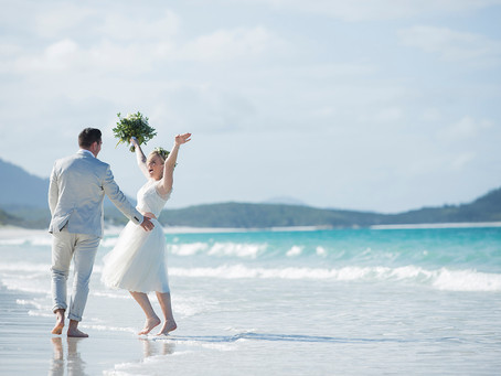 Kay and Steven's surprise Whitsunday Wedding