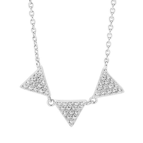 Funky Triple Triangle Pendant - p782-1