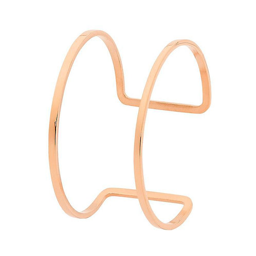 Rose Gold Steel Bangle - SB173R