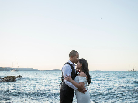 Karen and Endru's Intimate Wedding at Coral Sea Resort.