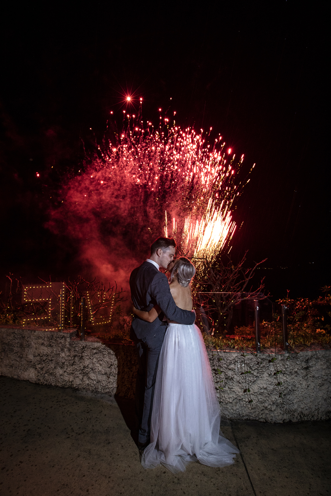 Villa Botanica Fireworks Wedding photography in the Whitsundays by Brooke Miles