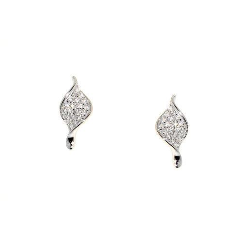 Small Leaf Shaped Earrings - E271W
