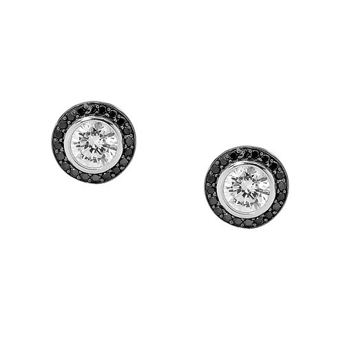 Black Cubic Zirconia Earrings - E244BW