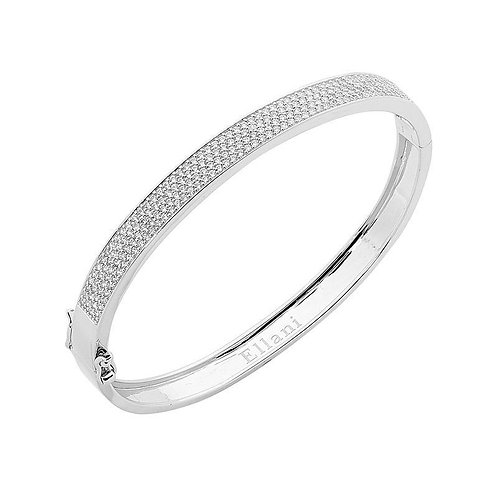 Multiple Cubic Zirconia Clip Bangle - b215-1