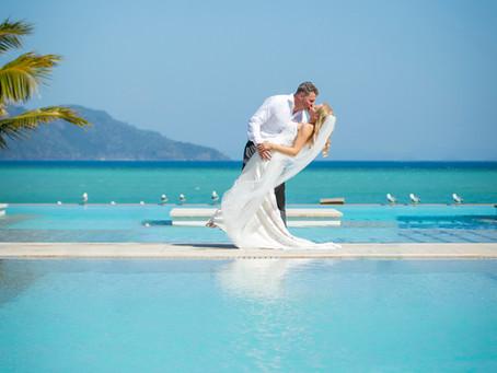 Taya and Clinton's Surprise Hayman Island Wedding