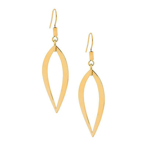 Gold Tear Drop Earrings - Se125G