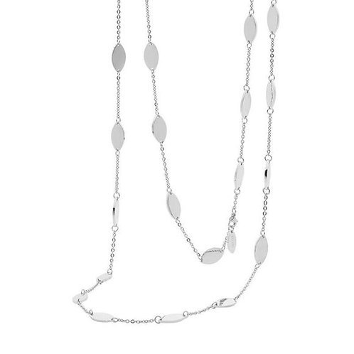 Thin Silver Tear Drop Necklace - SN105s