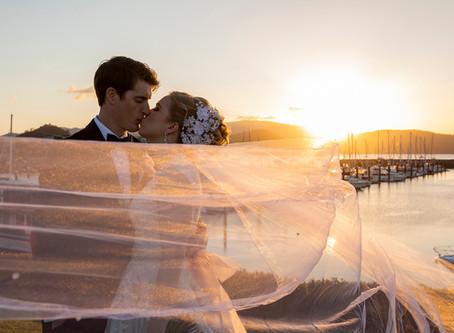 Catherine and Edward's Marina Wedding