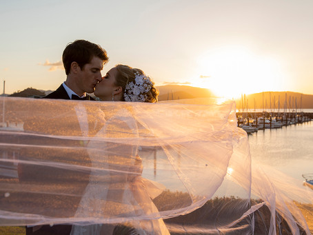 Catherine and Edward's Marina Wedding
