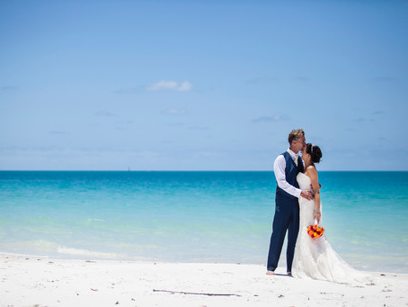 Martin and Sarah's Whitehaven Beach Intimate, Hollywood Wedding.