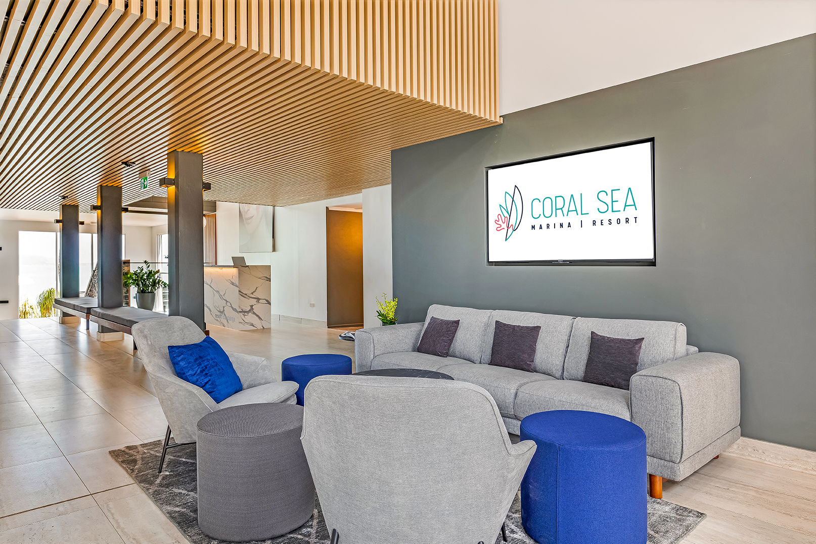 Coral Sea Resort commercial marketing photography in the Whitsundays by Brooke Miles