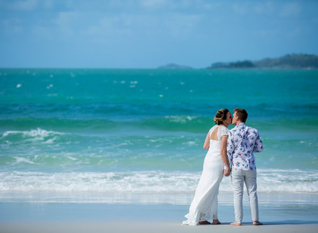 Gemma and James Picture Perfect Whitehaven Beach Wedding Day