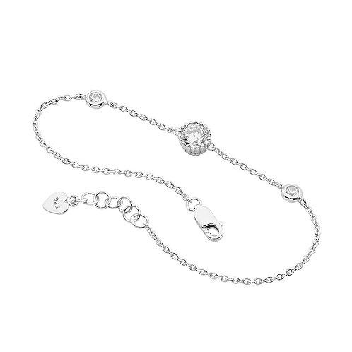 Cubic Zirconia Charm Bracelet - B195