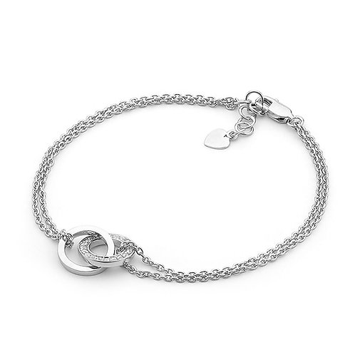 Double Hooped Bracelet - B176
