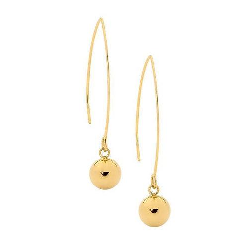 Gold Penny Drop Earrings - Se137g