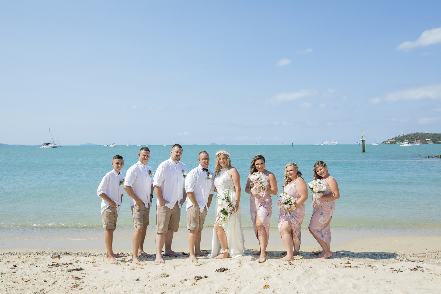 Whitehaven Beach Wedding photography in the Whitsundays by Brooke Miles