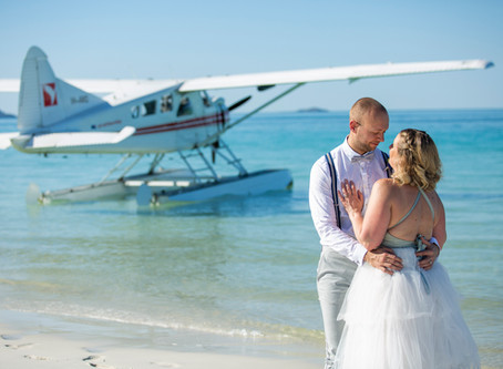 Natalie and Peter's Breathtaking Whitehaven Beach Elopement